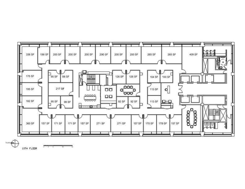 Dearborn 10th Floor Map